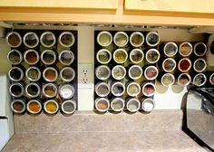 Wall Hanging Spice Storage