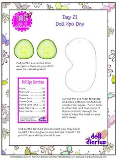 Karen Mom of Three's Craft Blog: AG party ideas -Day One of three- SPA PARTY