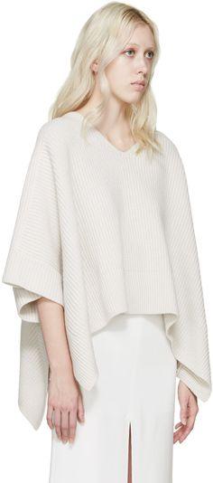 Chloé - White Cashmere Iconic Poncho                                                                                                                                                     More