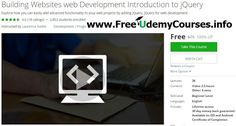 [#Udemy 100% Off] Building Websites web Development Introduction to #jQuery   About This Course  Published 9/2016English  Course Description  jQueryis easy to add to your websites and can provide really powerfuladvancedfunctionality.  Learn how to make your web content dynamic. jQuery is perfect for connecting your HTML elements with script.  Let your HTML come to life change the content that is displayed using jQuery. It brings life into boring old static HTML pages and makes them dynamic…