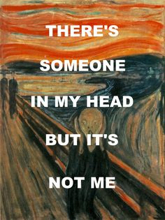 "pinkfloydart: "" Brain Damage - Pink Floyd / The Scream - Edvard Munch """