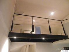 Fabrication passerelle metallique, verre en Bretagne - Morbihan. Decoration, Track Lighting, Sweet Home, Stairs, Ceiling Lights, Lofts, House, Home Decor, Verandas