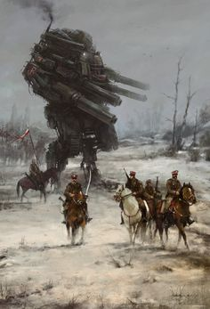 1920 - Warlord, Jakub Rozalski on ArtStation at https://www.artstation.com/artwork/1920-warlord