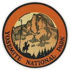 Yosemite National Park Vintage-Looking Travel Decal in Collectibles, Transportation, Automobilia | eBay