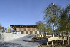 Image 7 of 44 from gallery of Cite des Arts et de la Culture / Kengo Kuma & Associates. Photograph by Nicolas Waltefaugle Kengo Kuma, Space Architecture, Culture, Architect Design, Art Images, Facade, Pergola, Outdoor Structures, Mansions