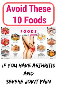 Avoid These 10 Foods To Avoid Worse Joint Pain