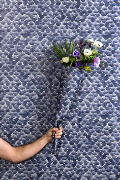 Never before was an abundance of petals and leaves quite as attractive as in our wallpaper Poppy, which certainly does its name justice. Textile Patterns, Textile Prints, Print Patterns, Flowers For Everyone, Basic Colors, Colours, Pebble Grey, Blue Tones, Where The Heart Is