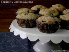 | Gluten Free Blueberry Lemon Muffins | http://www.glutenfreemama.com