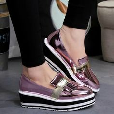 Now available!! Limited editions!!! http://designsbyzuedi.myshopify.com/products/2017-spring-new-retro-brogue-casual-shoes-patent-leather-platform-women-shoes-glitter-fashion-comfortable-flats-lace-up-shoes?utm_campaign=social_autopilot&utm_source=pin&utm_medium=pin 2017 Spring New R...