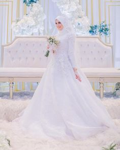 Deadly Mistake Uncovered On Malay Wedding Dress Hijab Muslim And How To Avoid It 32 - Muslim Wedding Gown, Malay Wedding Dress, Hijabi Wedding, Wedding Hijab Styles, Muslimah Wedding Dress, Chiffon Wedding Gowns, Muslim Wedding Dresses, Muslim Brides, Bridal Dresses