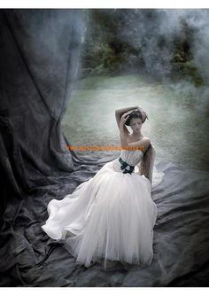 senza spalline principessa applique organza tulle abito da sposa 2013