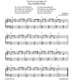 The In Man Traditional Nursery Rhyme With Pdf Sheet Music Midi Mp3 Files To