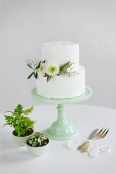 Wedding Cakes: A wonderful wedding cake with herbs and flowers // by Jeff and Jessica on Wedding Chicks — Loverly Weddings