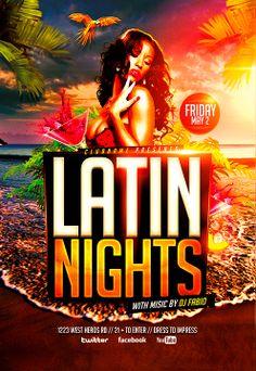 Latin Nights Beach Flyer Template…
