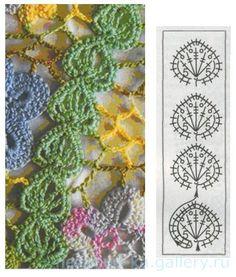 World crochet: Motive 181 Crochet Bookmark Pattern, Crochet Edging Patterns, Vintage Crochet Patterns, Crochet Lace Edging, Crochet Bookmarks, Freeform Crochet, Crochet Books, Crochet Diagram, Irish Crochet