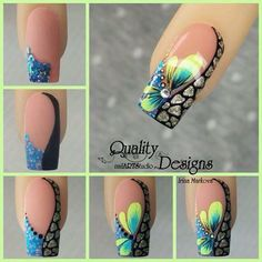 54 Ideas For Nails French Design Coffin French Nail Designs, Beautiful Nail Designs, Beautiful Nail Art, Nail Art Designs, Fancy Nails, Diy Nails, Cute Nails, Pretty Nails, Nagel Gel