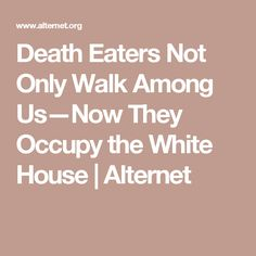 Death Eaters Not Only Walk Among Us—Now They Occupy the White House | Alternet