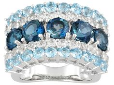 Blue and white #topaz #ring from Jewelry Television