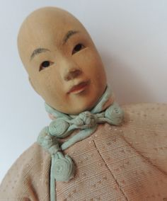 Door of Hope Antique Doll Antique Carved Wood Doll Chinese Doll 7 1 2 Inches | eBay