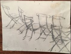 LS Lowry Original Graphite Line Drawing Hand Signed Chairs. http://eaglefineart.co.uk/product/ls-lowry-original-graphite-line-drawing-hand-signed-chairs/ #LSLowry #eaglefineart