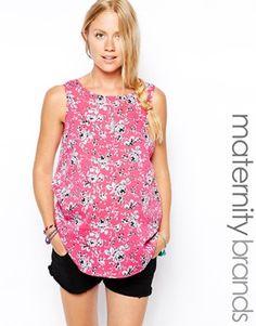 New Look Maternity Daisy Print Shell