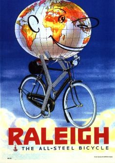 Vintage Raleigh Cycle Poster - Globe by Paul Fillingham, via Flickr