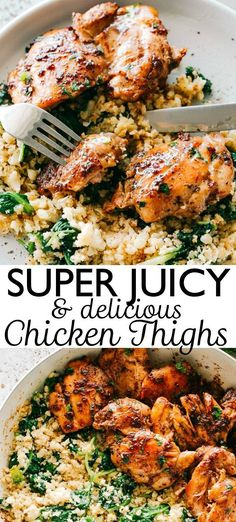 Juicy Stove Top Chicken Thighs - Perfectly golden, tender, and juicy skinless an. Juicy Stove Top Chicken Thighs – Perfectly golden, tender, and juicy skinless and boneless chicke Stove Top Chicken Thighs, Pan Seared Chicken Thighs, Chicken Thighs Dinner, Baked Boneless Chicken Thighs, Keto Chicken Thighs, Boneless Skinless Thigh Recipe, Keto Chicken Thigh Recipes, Chicken Thights Recipes, Baked Chicken Recipes