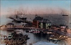Small handtinted photograph from an early 20th century tourist's album.