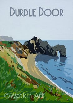 Vintage inspired painting and prints by Dorset artist Richard Watkin Nature Pictures, Travel Pictures, Dorset Coast, Beach Illustration, Tourism Poster, Nature Posters, Railway Posters, Vintage Travel Posters, Illustrations