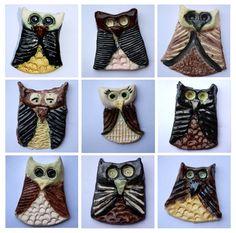 Elle and Lou: Ceramic Owls Children's Art
