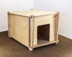 doghouse cat by bioarreda on Etsy