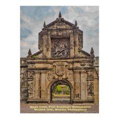 Main Gate Fort Santiago Intramuros Poster - decor gifts diy home & living cyo giftidea