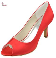 Minitoo , Peep-Toe femme - Rouge - rouge, 41.5 - Chaussures minitoo (*Partner-Link)