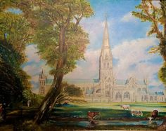Image result for salisbury cathedral from the bishop's grounds Salisbury Cathedral, Painting, Image, Drawings, Painting Art, Paintings, Painted Canvas
