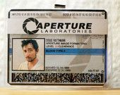 Aperture Science Employee Identification Badge