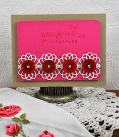 Dawn McVey - PTI Dec 2011 release project - love this use of the filigree border die