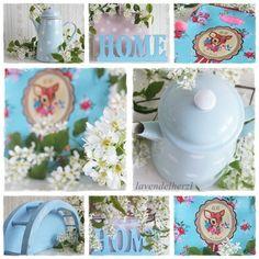 Lavendelherzl,blau,hellblau,Emaille,Cotton Candy