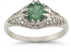 vintage-emerald-filigree-ring