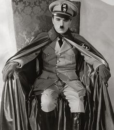 Charlie Chaplin, 1940 in The Great Dictator