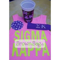 Check out this Sigma Kappa Bid Day Package! Sigma Kappa, Bid Day Gifts, University Of Denver, Online Gifts, Sorority, Drink Sleeves, Basket, Packaging, Check