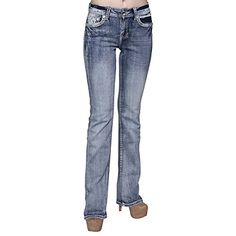 Sexy Couture Womens S139PB Dark Wash Rhinestone Stitched Boot Cut JeansDENIM5 *** You can find more details by visiting the image link.