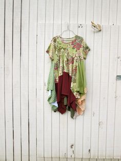 altered clothing / mixed media / lagenlook / romantic Upcycled clothing / by CreoleSha on Etsy, $94.00