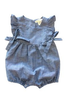 Anthem Of The Ants - Chambray Mia Ruffle Romper