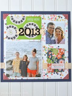 2013 Project Life Family Scrapbook Title Page