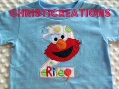 Elmo inspired 1st 2nd or 3rd Birthday Shirt by ChristiCreations