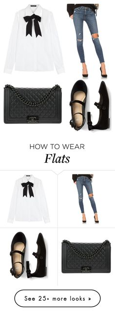 """""""Untitled #97"""" by mev01 on Polyvore featuring Dolce&Gabbana, Frame and Chanel"""