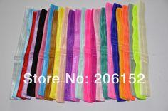 DHL Free shipping 500pcs/lot 20 colors baby headband DIY FOE headband elastic headbands fashion hairband for girls