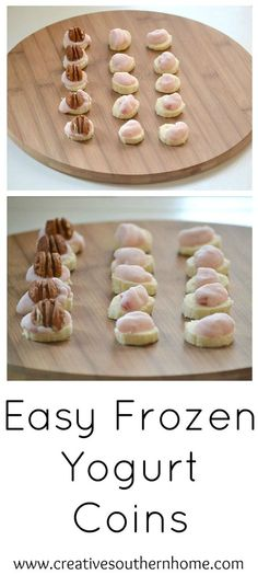 Easy frozen yogurt bites.  Perfect for a hot Summer day