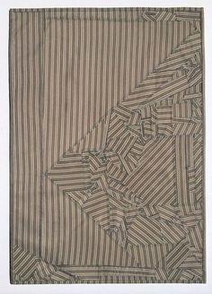"Debra Smith, ""Restructured, Series #4,"" 2014, Pieced vintage kimono silks & men's suit lining"