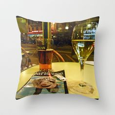 At the cafe Throw Pillow by Susan in Paris - $20.00